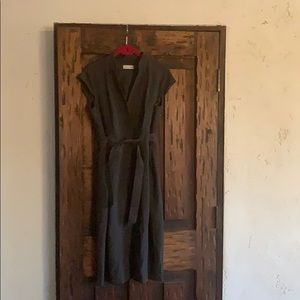Charcoal wrap front dress